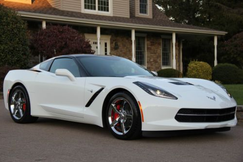 2014 corvette stingray arctic white 2014 CHEVROLET CORVETTE STINGRAY 3LT ARCTIC WHITE 7-SPEED 299 MILES NO
