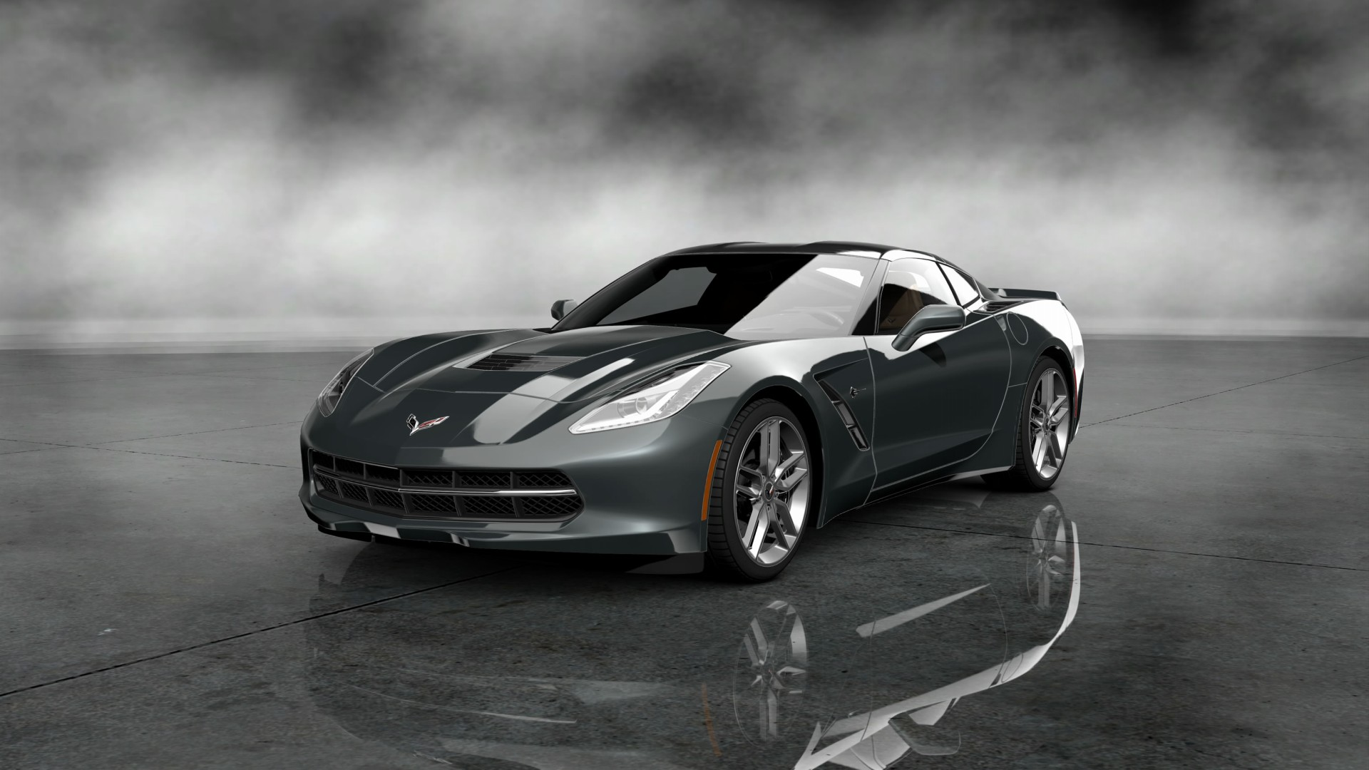 2014 corvette stingray black 2014 Chevrolet Corvette Stingray Black Wallpaper - WALLS-WORLD.COM