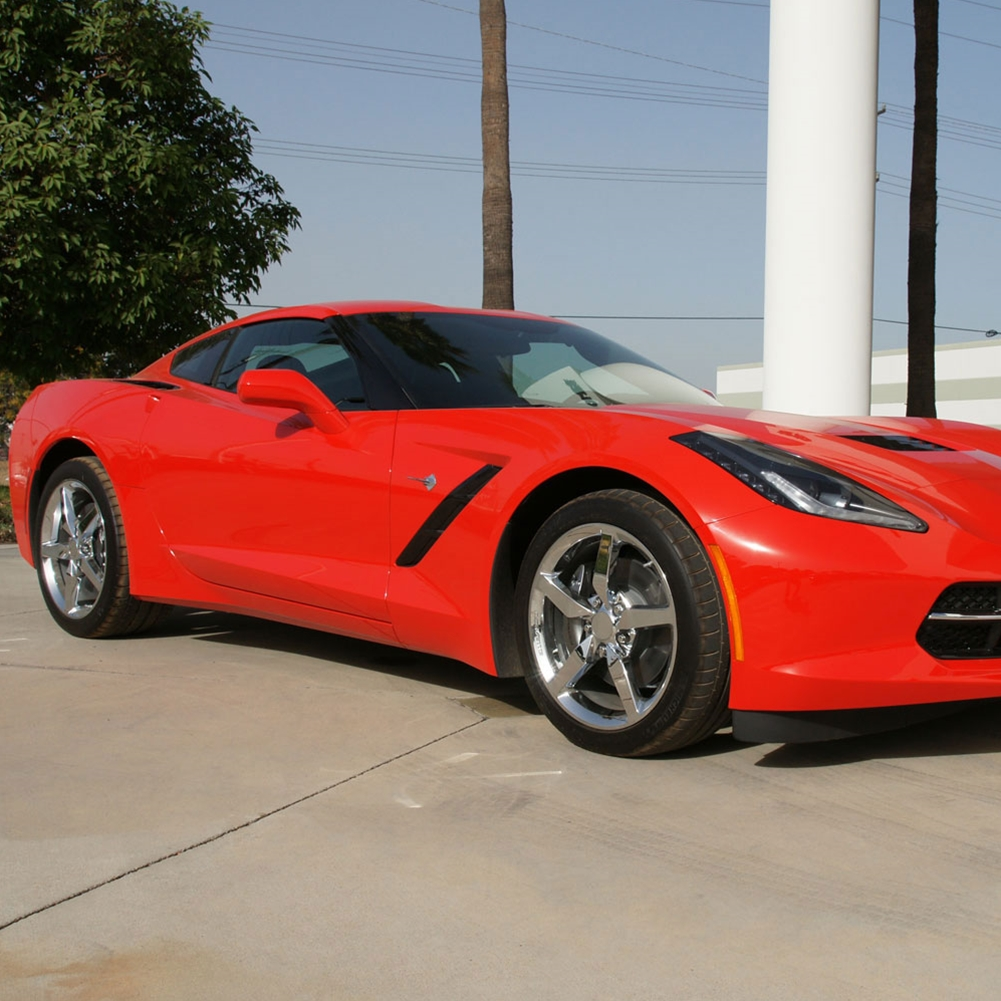 2014 corvette stingray black chrome wheels 2014 C7 Stingray Corvette Chrome Wheel Exchange - Standard - 18/19