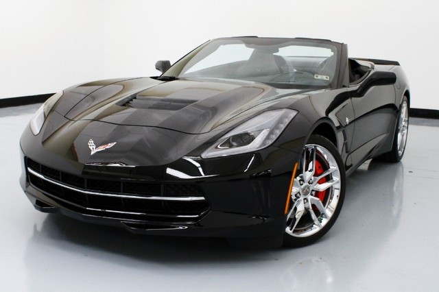 2014 corvette stingray black convertible 77991 no haggle price exterior black interior jet black stock 9967