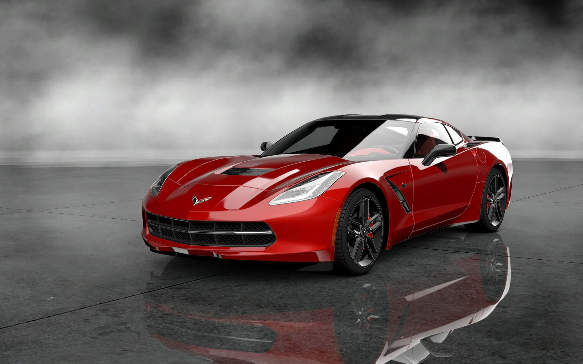 2014 corvette stingray black wallpaper 2014 corvette stingray wallpaper 600x375 2014 Corvette Stingray