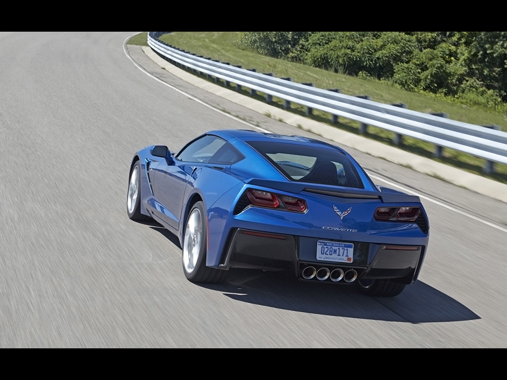 2014 corvette stingray blue 2014 Chevrolet Corvette Stingray Z51 - Blue - 2 - 1024x768 - Wallpaper