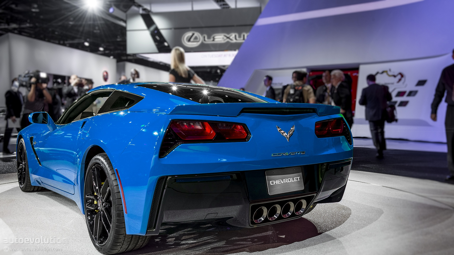 2014 corvette stingray blue Blue 2014 Corvette Stingray # 1632 # AutoWallpaper77