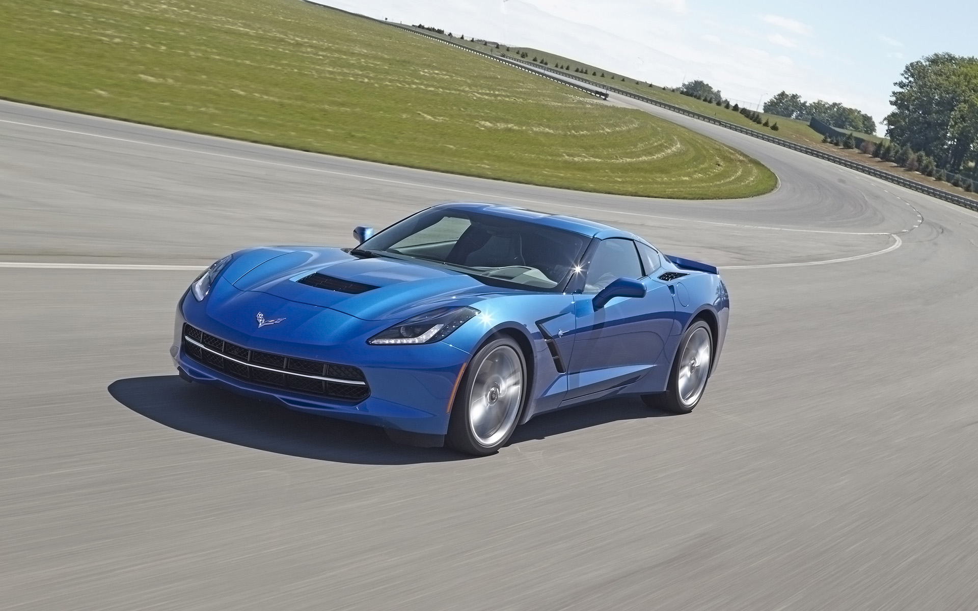 2014 corvette stingray blue 2014 Chevrolet Corvette Stingray Z51 - Blue - 4 - 1920x1200