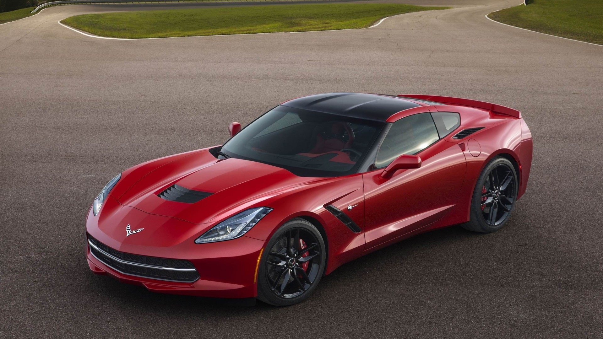 2014 Chevrolet Corvette Stingray Red HD desktop wallpaper