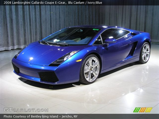 Blue Lamborghini Gallardo Interior