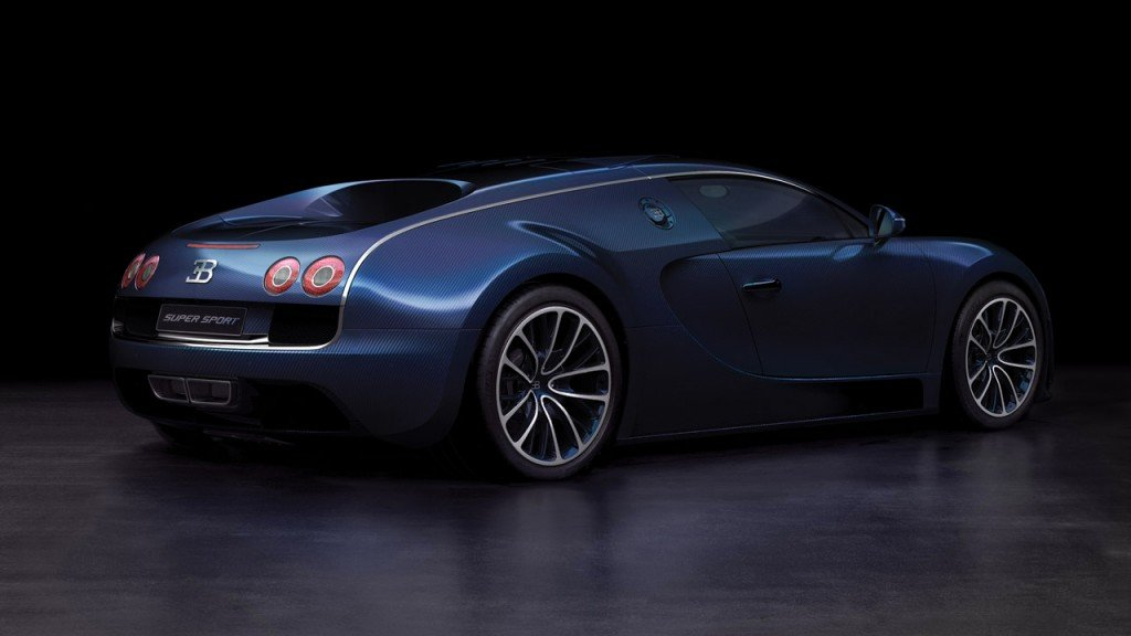 Blue Bugatti Veyron Super Sport Wallpaper