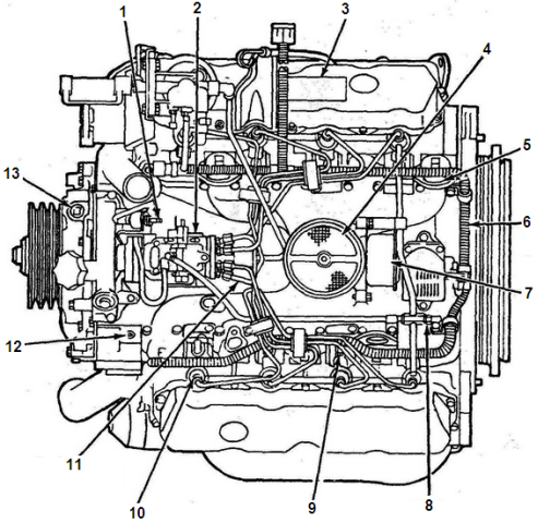ford navistar v .l engine part diagrams