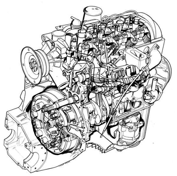 H Citroen Ds Engine Cutaway Engine Information