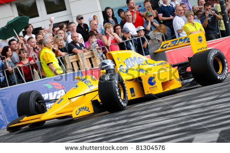 stock photo warsaw june legendary formula one racing car lotus with lamborghini engine during verva
