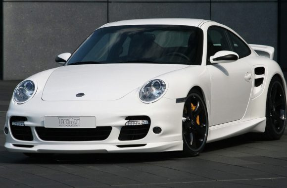 White Porsche 911 Turbo Wallpaper