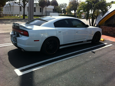 2011 White Dodge Charger With Black Rims
