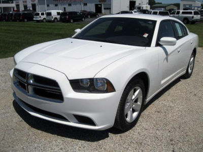 White Dodge Charger With Black Rims