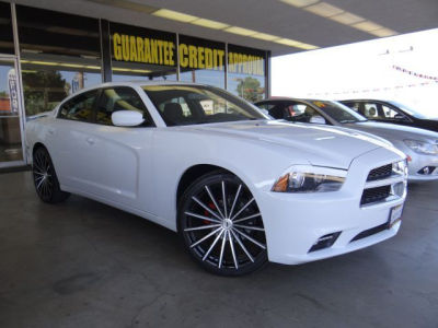 White Dodge Charger With White Rims