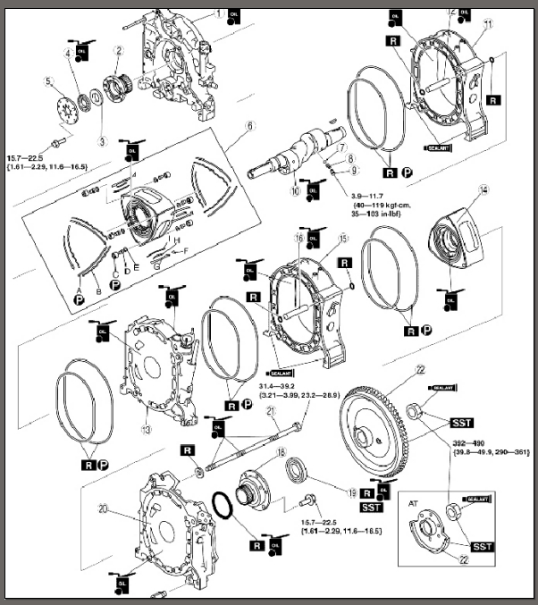 mazda b13 rotary engine diagram